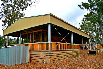 Visit the cafe at Trees Adventure for a meal after a long climbing session