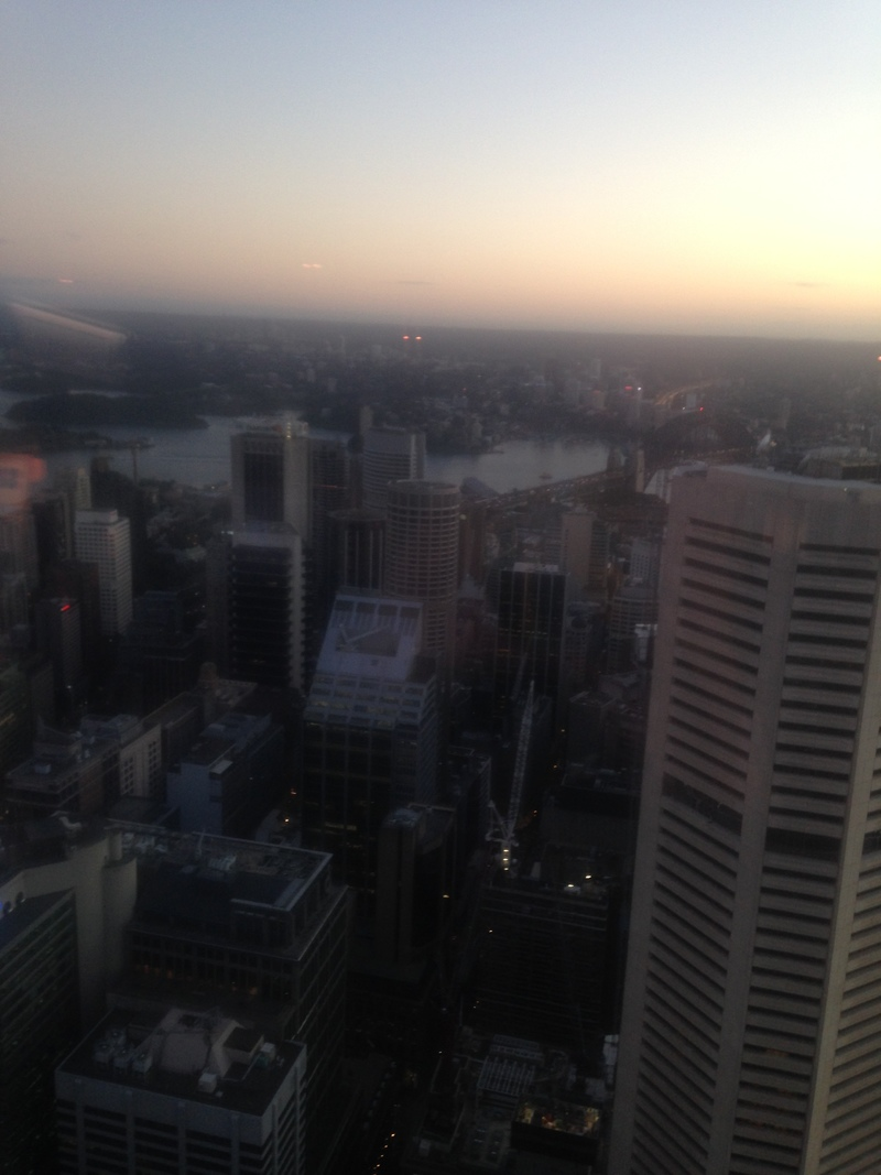 yoga in the sky, yoga at sydney tower, wednesday morning yoga in sydney city